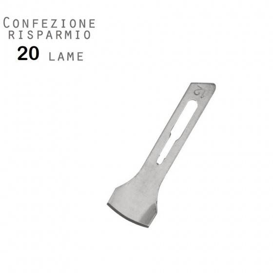 bestblade 20 lame sterilizzate podologia mis. 12