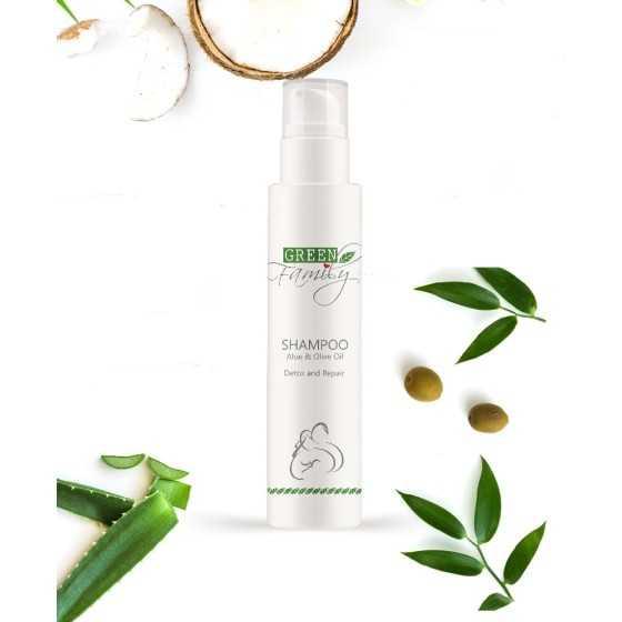green family shampoo aloe olive detox repair 200ml