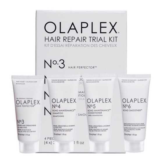 OLAPLEX KIT HAIR REPAIR TRIAL KIT CAPELLI DANNEGGIATI 3-4-5-6