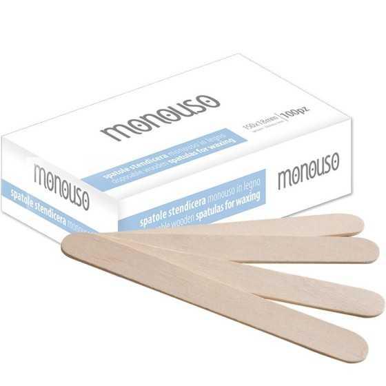 Spatole legno ceretta 100pz